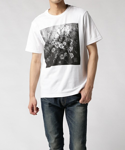 FLOWER PHOTO PRINT T-SHIRT / 272536 011R