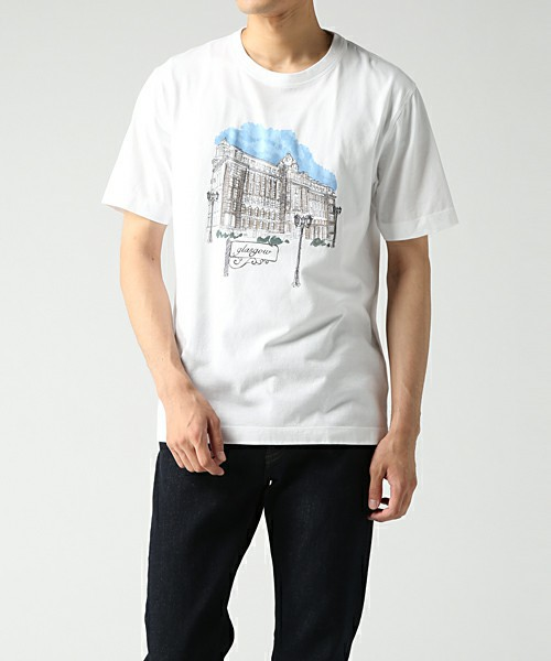 GLASGOW CITY PRINT T-SHIRT【274317 299Z】