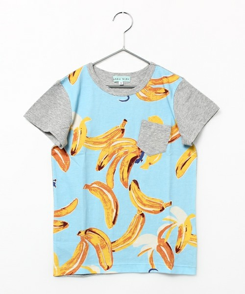 ワニ・バナナプリントTシャツ