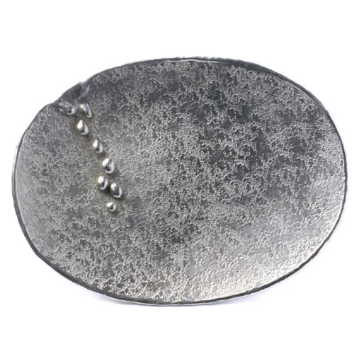 錫まゆ皿・雫・小・ゆり工房