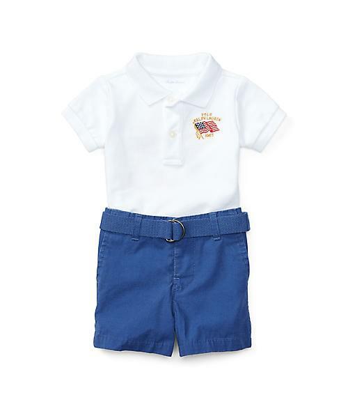 ポロシャツ、ベルト & ショートパンツ セット
