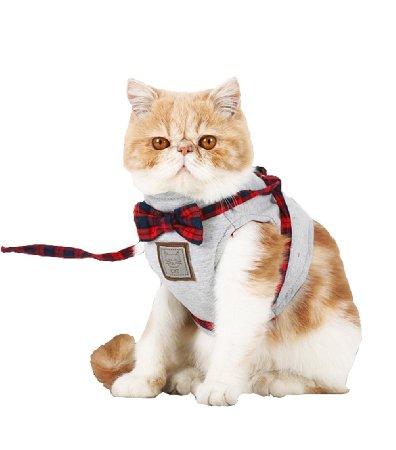 【Momugs Akira】ペット用品 猫 牽引ロープ 猫ハーネス