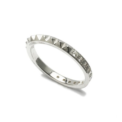 STUDS SINGLE RING S -SILVER-
