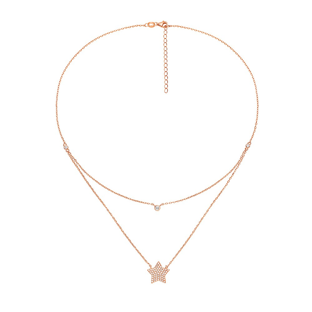 FASHIONABLY SILVER STARRY SKY NECKLACE