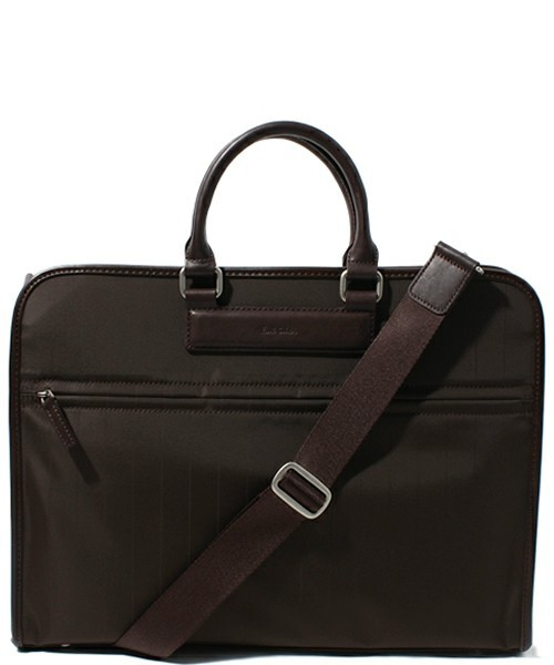 PIN STRIPE NYLON BRIEFCASE / 823571 R461N