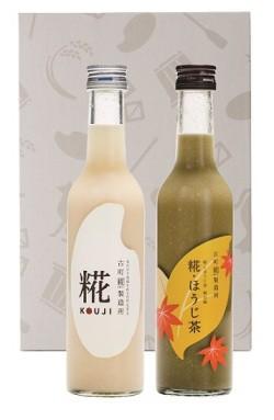 【ギフトセット】糀300ml&糀ほうじ茶300ml