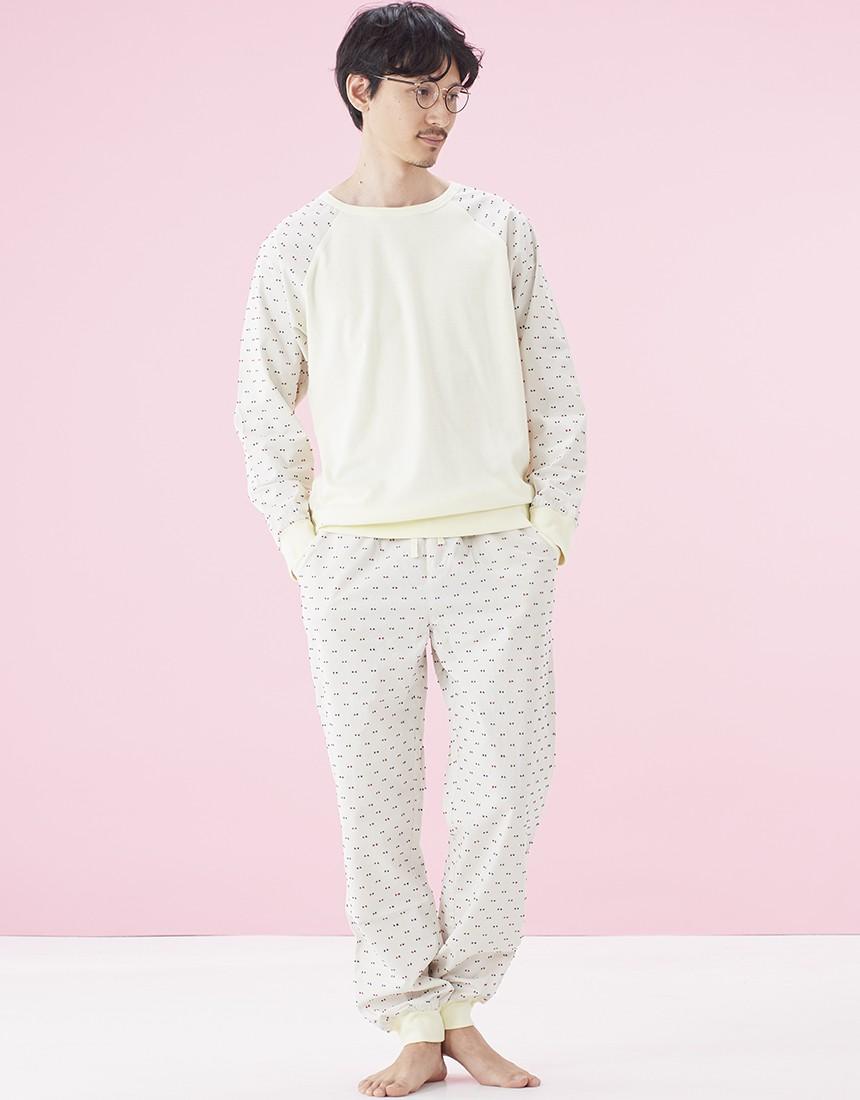 布帛ドットカットドビー 【ランチ】メンズパジャマ